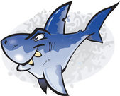 Cartoon Great White Shark — Stock Vector