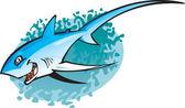 Cartoon Thresha shark — Stock Vector
