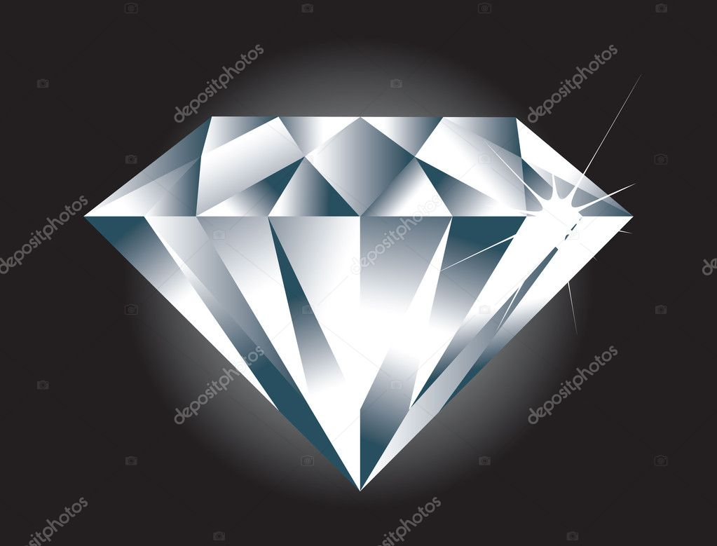 A simple easy to edit vector Diamond. Diamond sparkle and BG on separate layers. — Stock Vector #8691212