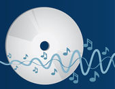 CD playing music — Stock Vector