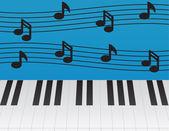 Piano Keys — Stock Vector
