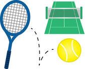 Теннисное оборудование — Cтоковый вектор