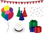 Birthday Decorations — Stock Vector