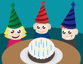 Birthday Kids — Stock Vector