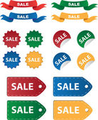 Various Sale Tags — Stock Vector