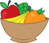 Bowl of fruit — Stock Vector
