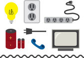 Electrical accessories — Stock Vector