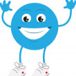 Blue Guy Smiling — Stock Vector