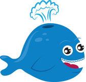 Cartoon Whale — Stock Vector