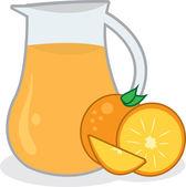 Orange Juice Pitcher — Stock Vector