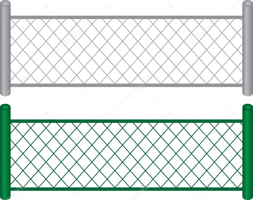 Chain link fence — stock vector milo
