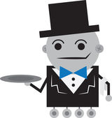 Robot Butler — Stock Vector