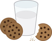 Cookies and Milk — Stock Vector