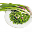Early spring onions for salad — Stock Photo