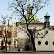 Old church of.St.Adalalbert in Krakow's center — Stock Photo