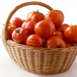 Stock Photo: Red tomatoes in basket