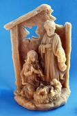 Waxen Christmas crib — Stock Photo