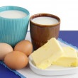 Stock Photo: Milk products