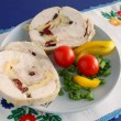 Stock Photo: Chicken brest white meat collop and vegetable