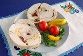 Chicken brest white meat collop and vegetable — Stock Photo