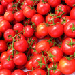 Clusters of red tomatoes — Stock Photo