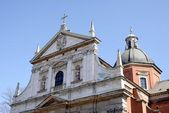 Fasade of St.Peter and Paul Catholic Church in Krakow — Foto Stock