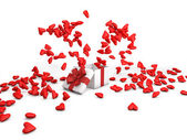 Love explosion 3D — Stock Photo