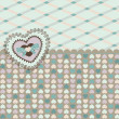 Vintage background with heart for Valentine's Day — Stock Photo