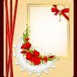 Vintage background with lace ornaments and flowers — 图库照片