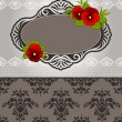 Vintage background with lace ornaments and flowers - Stock Photo
