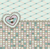 Vintage background with heart for Valentine's Day — Stok fotoğraf