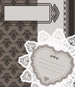 Vintage lace ornaments on background for Valentine's Day — Stock Photo