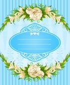 Fondo vintage con adornos de encaje y flores — Foto de Stock