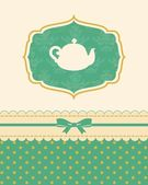 Illustration of vintage ceramic tea pot — Foto de Stock