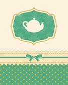 Illustration of vintage ceramic tea pot — Stock Photo