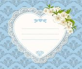 Vintage background with lace ornaments and flowers — Stockvector