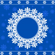 Snowflake winter background - Stok Vektör