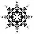 Snowflake winter background - Stock Photo