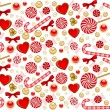 Christmas background with Candy cane. Vector — Stock Vector