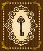 Antika antika anahtar goblen arka plan — Stok fotoğraf