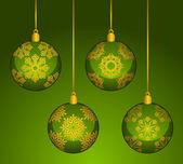 Christmas balls decoration Happy New Year bauble — Stockfoto