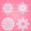 Snowflake winter background - Foto Stock