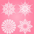 Snowflake winter background - Stockfoto