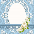 Vintage background with lace ornaments and flowers. Vector — Stock Photo