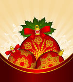 Christmas balls decoration Happy New Year bauble. Vector — Stock Photo