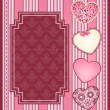 Stock Photo: Vintage background with lace ornaments for Valentine's Day. Vector