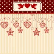 Vintage background with lace ornaments for Valentine's Day. Vector — Stock Photo