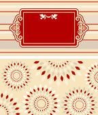 Vintage background with lace ornaments for Valentine's Day — Stok fotoğraf
