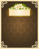Vintage background with lace ornaments and flowers — Stock Photo