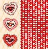 Vintage background with heart for Valentine's Day. Vector — Stock Photo